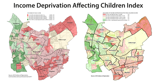 income deprivation affecting children map