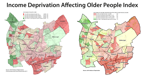 Income Deprivation Affecting Older People map