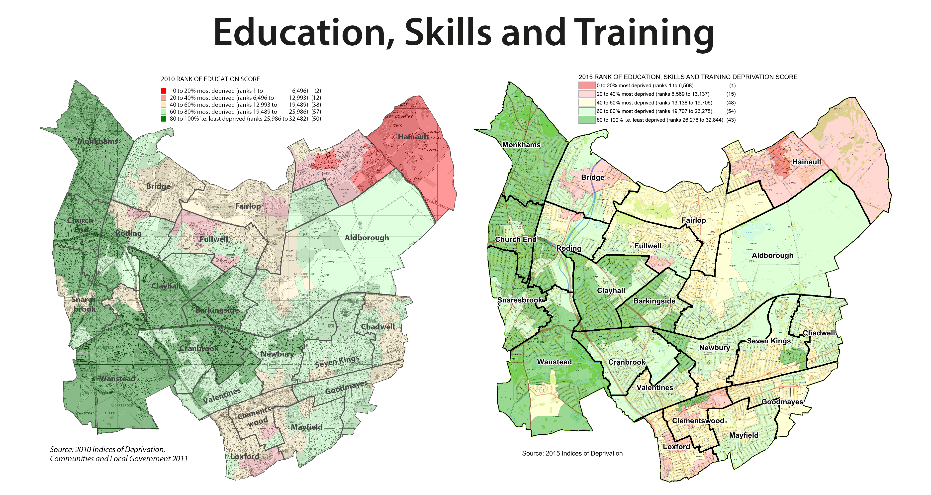 education, skills and training deprivation map